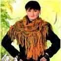 Продам новую вязаную женскую ажурную косынку с кистями ручная работа шерсть Россия