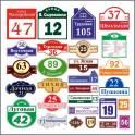 Изготавливаем адресные таблички (номера домов)