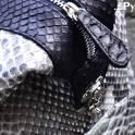Женская сумка на коротких ручках из натуральной кожи питона, эксклюзив!