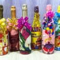 Праздничное оформление бутылок