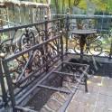 Ограды, лавочки, столики на кладбище
