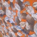 Отрез ткани. Листья серые на бордовом фоне. Ширина 130 см. Длина 180 см