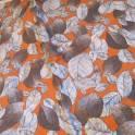 Отрез ткани. Листья серые на бордовом фоне. Ширина 130 см. Длина 180 см, фотография 2