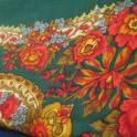 Новый красно - зелёный платок 95 х 95 см из натуральной ткани с бахромой по периметру. Выглядит эффектно. 1900 р.