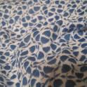 Отрез  сине - бледно - голубой ткани  80 х 350 см