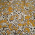 Отрез с белым узорчатым рисунком типа перца на оранжевом фоне 74 (ширина) х 390 см, фотография 3