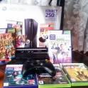 Продам игровую приставку x-box 360 250gb+ kinect+1gamepad+ hdmi кабель+5 игр