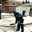 Уборка снега в Серебряных прудах