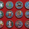 Комплект цветных рублей: