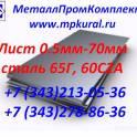 Лист пружинный 0,5-3мм; Лист рессорный 0,5-3мм; Лист рессорно-пружинный сталь 65г 0,5-3мм