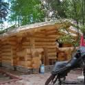 Строим дома бани ручная рубка . оцилиндрованное бревно брус строганный