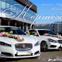 Автомобили с водителем на свадьбу. Свадебные кортежи.