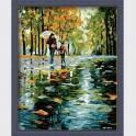 Картина по номерам  Вдвоем под дождем  G125