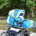 Сине-голубая коляска