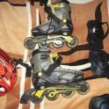 Ролики 35-37размер, защита и шлем