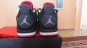 Кроссовки Air Jordan retro 4 bred Black/Red/Grey, фотография 4
