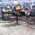 Оградка кованая на могилу, крест кованый, мемориал кованый, ритуальные кованые оградки под заказ