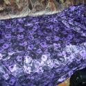 Ткань Шелк с отливом сиренево-черные цветы 4х1,1 м. ц. 2200 р.