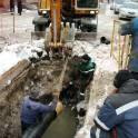 Прокладка вновь строящихся сетей водопровода и канализации