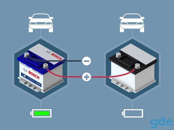 прикурить разрядившийся аккумулятор автомобиль, фотография 1