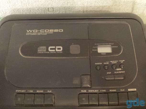 Двухкассетная магнитола Sharp WQ CD 220L (GY) stereo radio cassette recorder, фотография 3