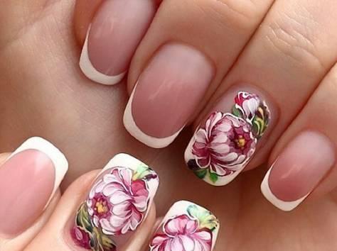 Наращивание ногтей фото без дизайна