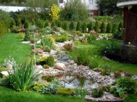 Ладшафтный дизайн, фонтаны, декоративные водоемы, фотография 1