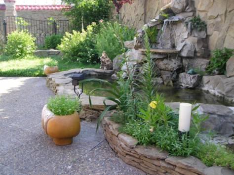 Ладшафтный дизайн, фонтаны, декоративные водоемы, фотография 2