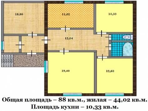 Продаю полдома 88 кв.м. в Калужской области., фотография 2