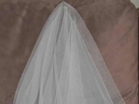 Фата для невесты на девичник белая, фотография 3