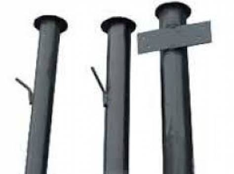 Столбы металлические, с бесплатной доставкой,  покрытые грунтовкой, фотография 2