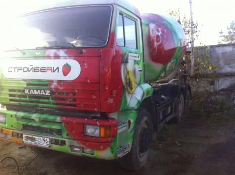 Автобетоносмеситель 581453 на шасси КАМАЗ-6520  2007 г/в, фотография 1