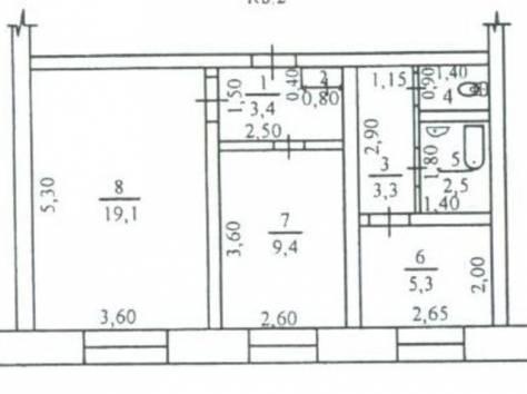 2-комнатная квартира с тф и гаражом под окнами, фотография 1