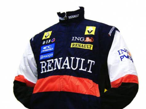 RENAULT F1 Motor Racing Embroidered Jacket Blue L, фотография 1