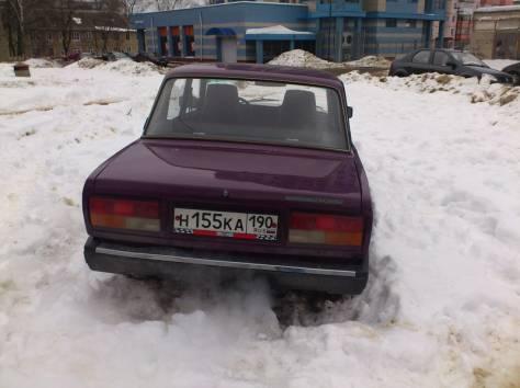 Продаю ВАЗ 2107, цвет фиолетовый, сост. хор, литье и новая лет. резина, фотография 4