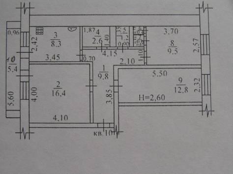 продается уютная 3-к. квартира, Можайского, фотография 1