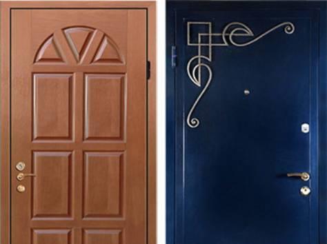 мощные железные двери в дом