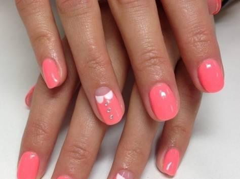 Шеллак покрытие на короткие ногти дизайн