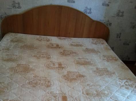 Срочно продаю двухспальную кровать, решетку из ортопедических ламелей и Двухсторонний ортопедический матрас (зима-лето), фотография 1