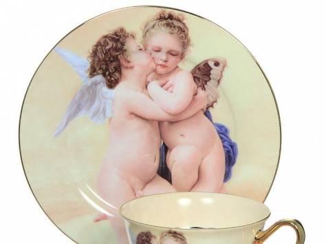 Чайный фарфоровый набор «Ангелочки» в подарочной упаковке, Великобритания, фотография 1