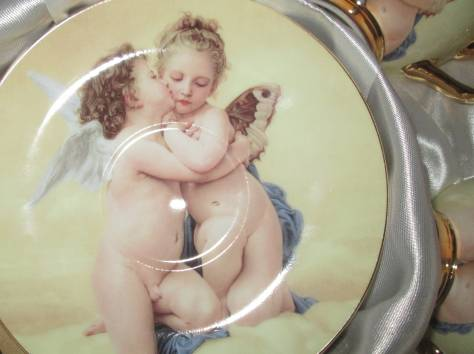Чайный фарфоровый набор «Ангелочки» в подарочной упаковке, Великобритания, фотография 7
