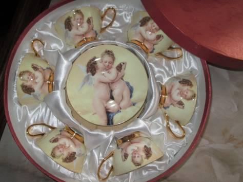 Чайный фарфоровый набор «Ангелочки» в подарочной упаковке, Великобритания, фотография 8