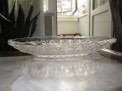 Хрустальное блюдо (Богемия, Чехия).Хрустальное блюдо (Богемия, Чехия)., фотография 6