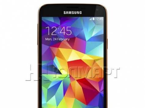 Смартфон Samsung SM-G900FD GALAXY S 5 dual sim gold, фотография 1