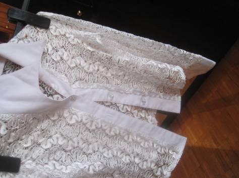 Эффектная белая кофта с узорами. Обмен, фотография 8
