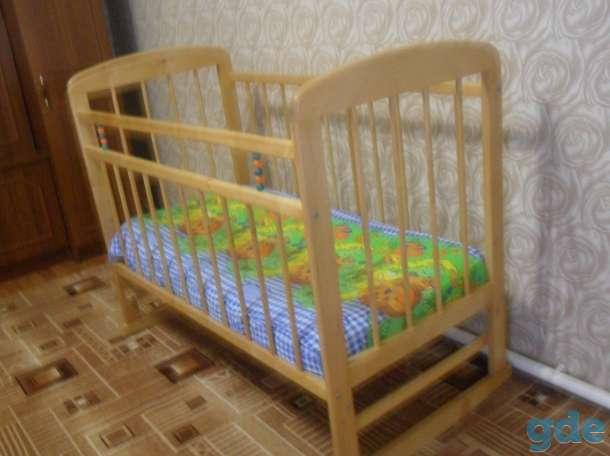 кроватка и матрас, фотография 1