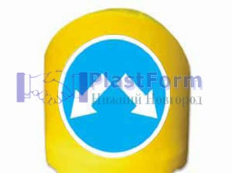 Пластиковые дорожные ограждения, фотография 3