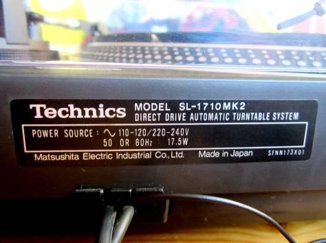 Виниловый проигрыватель Technics SL-1710 MK2, фотография 2