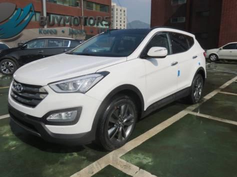 Hyundai Santa Fe 2013 год (белая), фотография 2