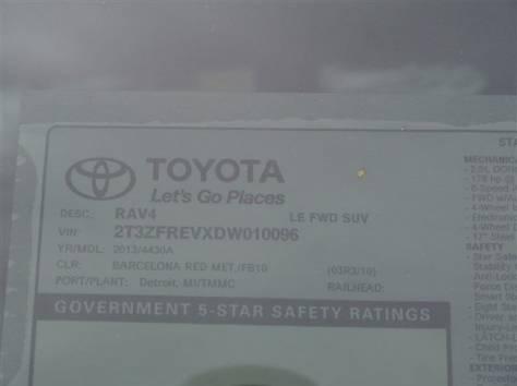Toyota RAV4 2013 год (красная), фотография 9